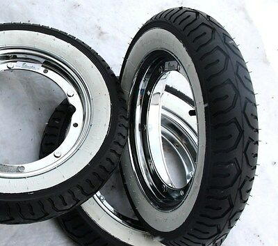 VESPA Tyre Whitewall 3.00-10 PK XL V 50 S N ET3 125 Primavera SPECIAL SS scooter