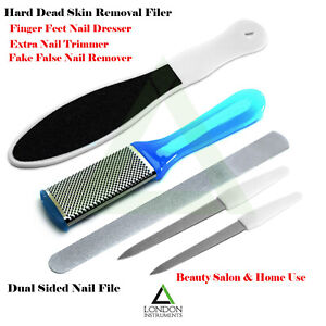 Daimond Deb Nail Filer Dual Side Manicure Pedicure Hard Skin Remover ...