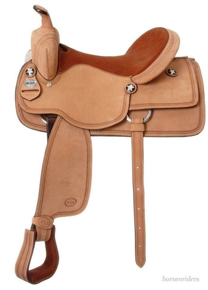 16.5 Inch Western Competition Saddle-Roughout Leather-King Series by  Tough 1  honest service