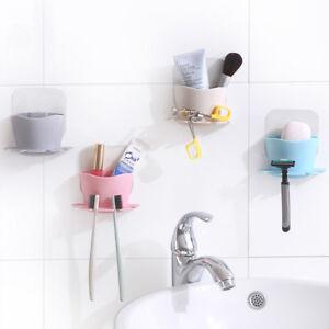 1pc porte brosse dent mural support ventouse plastique dentifrice rangement mode ebay - Porte brosse a dent ventouse ...