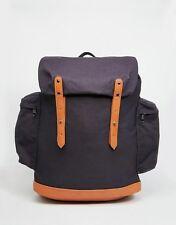ASOS Commander Backpack In Navy Canvas Travel Bag - NEW