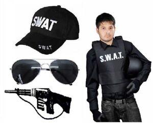 image is loading unisex adult swat bullet proof vest hat glasses - Halloween Bullet Proof Vest