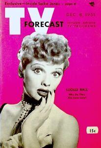 TV Guide 1951 Lucille Ball I Love Lucy Desi Arnaz Pre National NM COA Rare