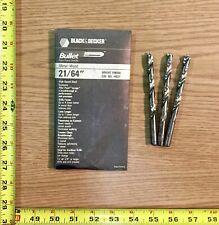 black oxide Multiple Purpose #19111 Black /& Decker 1//2in Bullet Drill Bit