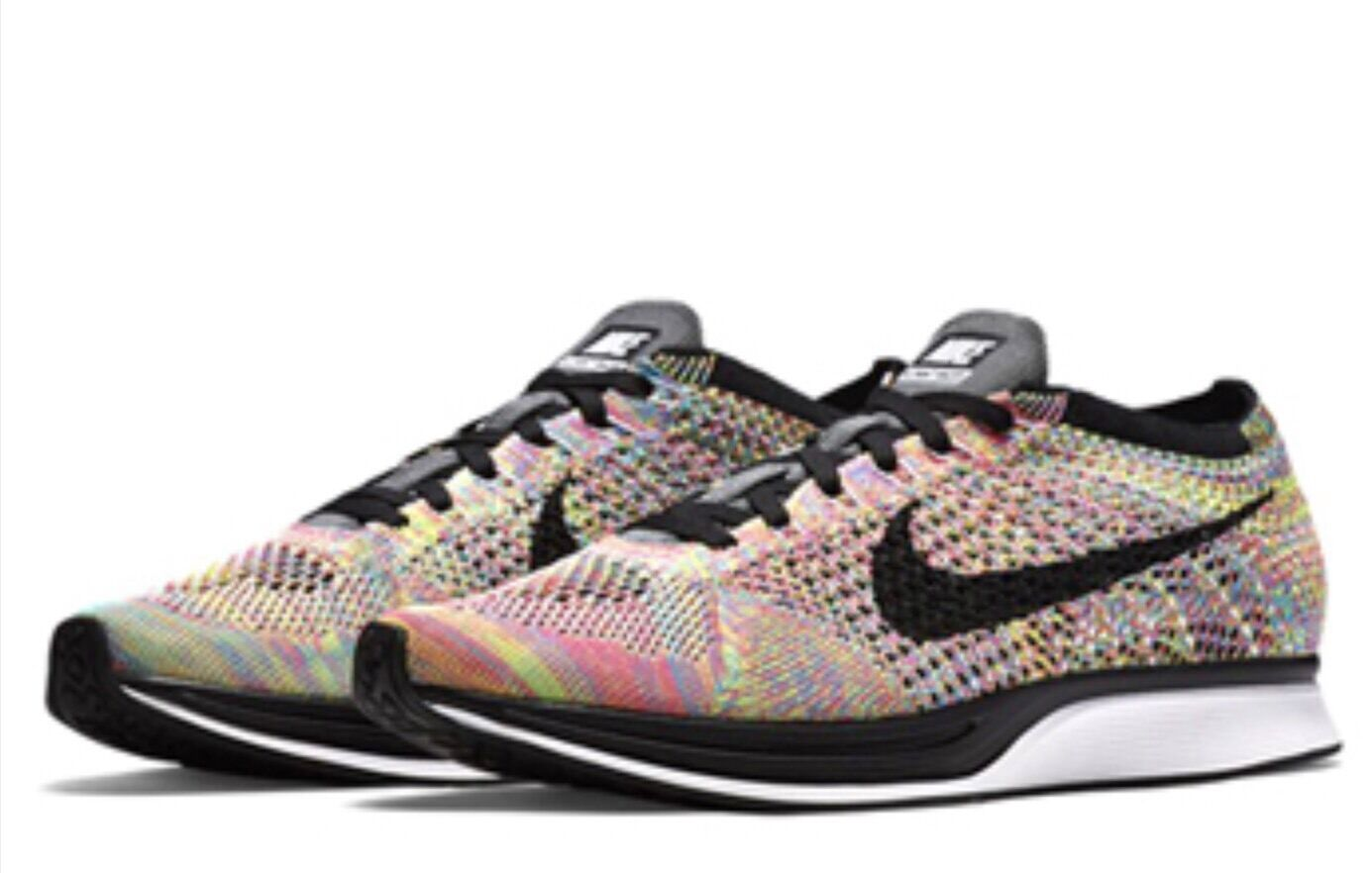 DS MENS NIKE FLYKNIT RACER  526628 004 MULTICOLOR RAINBOW Price reduction  Comfortable and good-looking