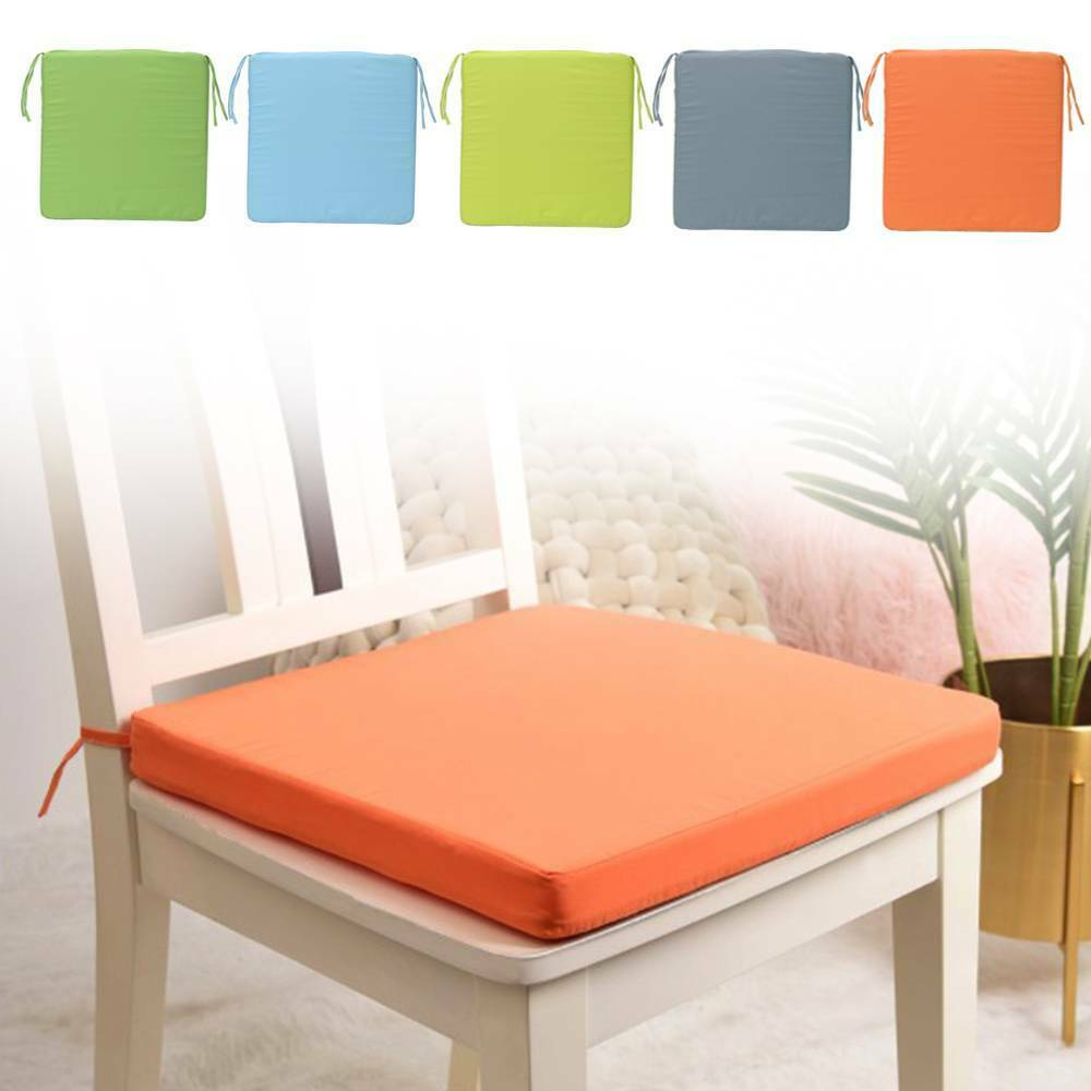 Chair Seat Pad Tie On Cushion Cover Solid Kitchen Dining Roo