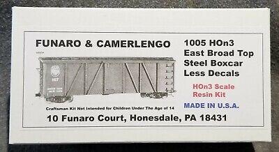 Funaro F/&C 1005 HOn3  EAST BROAD TOP  Old Time EBT Steel Boxcar 3/' Narrow Gauge