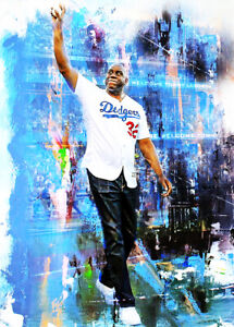 2021 Magic Johnson Los Angeles Dodgers 19/25 Art ACEO Sketch Print Card By:Q