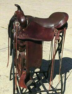 "Tucker Saddle Gen II Cheyenne Springs 17.5"" Western Trail Riding Comfort"