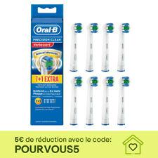 8x Têtes Brossettes Braun Oral-B Precision Clean