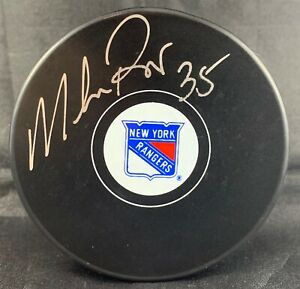 Mike-Richter-autographed-signed-puck-NHL-New-York-Rangers-PSA-COA