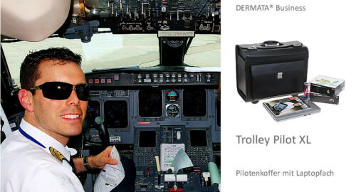 Trolley FLIGHTCHECK Pilotenkoffer Pilotentrolley Piloterntrolly Trolly XL 7040