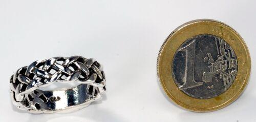 Macizo Sterling plata 925 anillo celtas flechtring ca 6 G