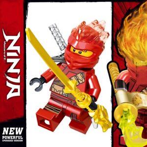 Ninjago-rot-Kai-Jay-Master-of-Spinjitzu-Custom-Lego-Mini-Figur-Lloyd-Ninja-NEU