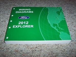 2012 ford explorer electrical wiring diagram manual xlt limited 2.0l 3.5l  v6 | ebay  ebay