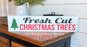Fresh Cut Christmas Trees Sign.Details About Stencil Fresh Cut Christmas Trees 24 X5 5 Reusable Stencil Not A Sign