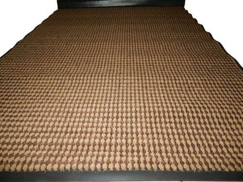 4/' x 6/' Door Mat Heavy Duty Entrance Indoor//Outdoor Front Vinyl Brown//Beige.