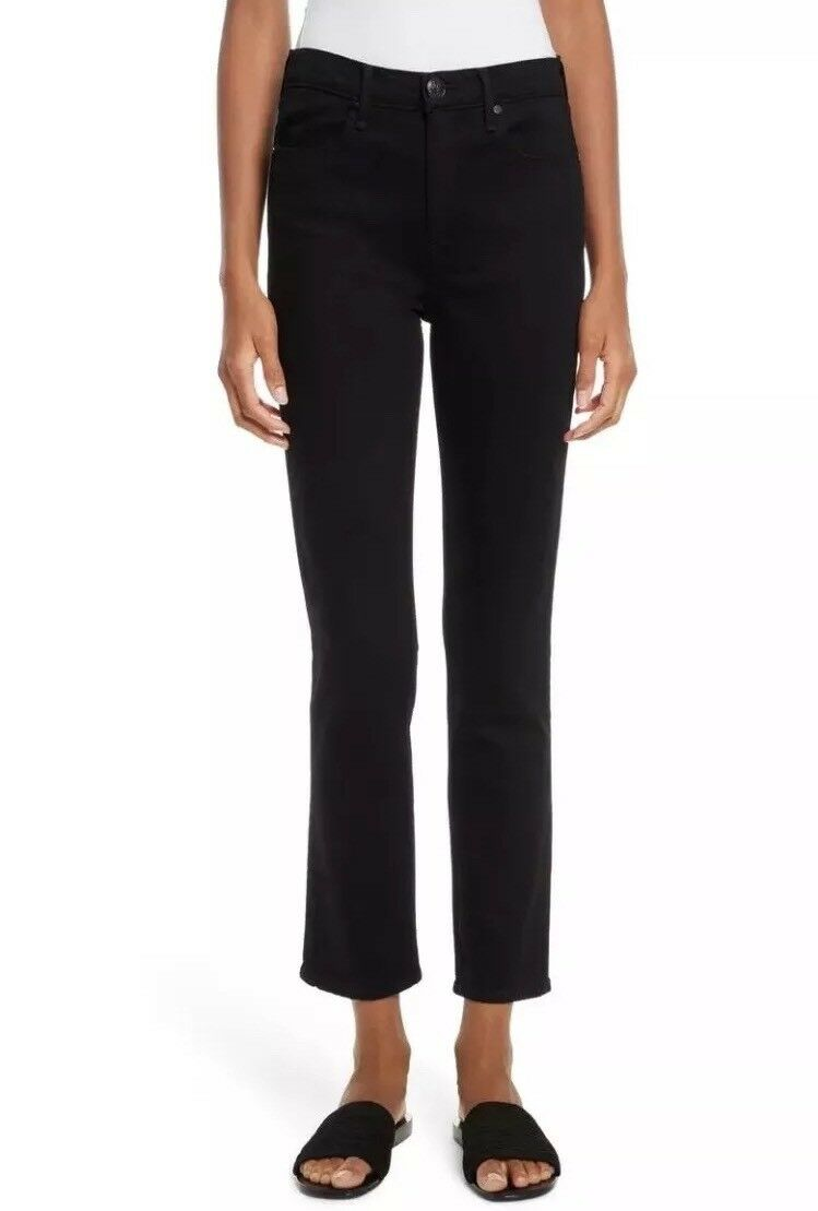 Rag & Bone Size 26 Jeans High Waist Rise Coal Cigarette Straight Leg