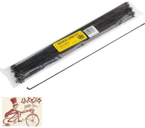 WHEELSMITH DB14 2.0//1.7 X 258MM BLACK BICYCLE SPOKES--PACK OF 50