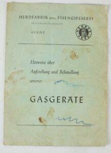 Herner-Herd-Hinweise-ueber-Aufstellung-amp-Behandlung-unserer-Gasgeraete-1956-B8297