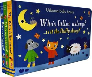 Usborne-Baby-Books-Collection-3-Board-Books-Set-Gift-Pack-Who-Fallen-Asleep