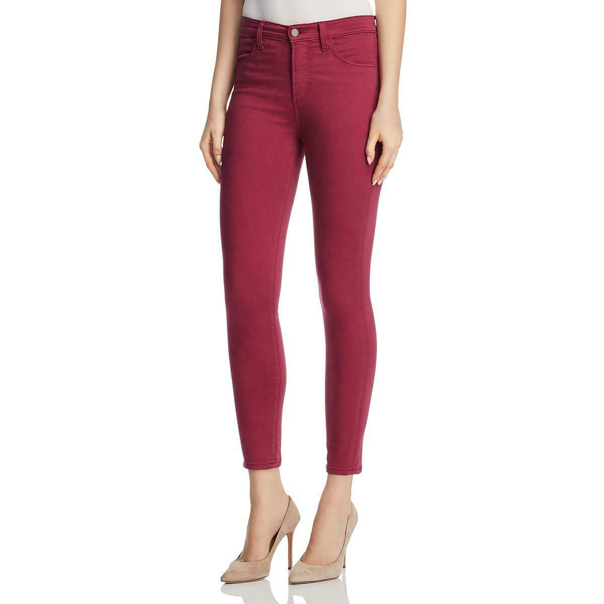J Brand Womens Alana Pink High Rise colord Skinny Crop Jeans 26 BHFO 0715