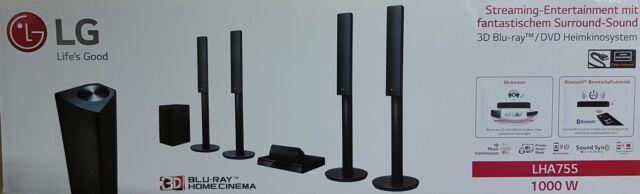 LG LHA755 5.1 3D Blu-ray Heimkinosystem, 1000W, DLNA, Bluetooth (B5724-C5725)