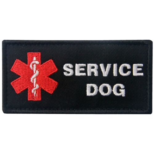 Embroidered PATCHES Hook Loop patch Appliques Service Dog Harnesses PET Fastener