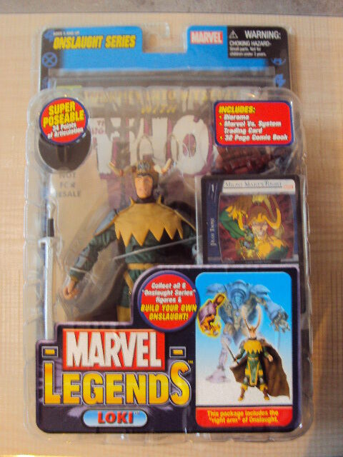 MARVEL LEGENDS SERIES 13 ONSLAUGHT   LOKI LOKI LOKI VARIANTE 2006 TOY BIZ THOR AVENGERS ec2682