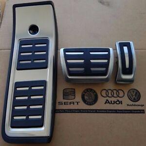 Audi-A4-B9-original-S4-Pedalset-Pedale-Pedalkappen-RS4-Fussstuetze-pedal-pads-caps