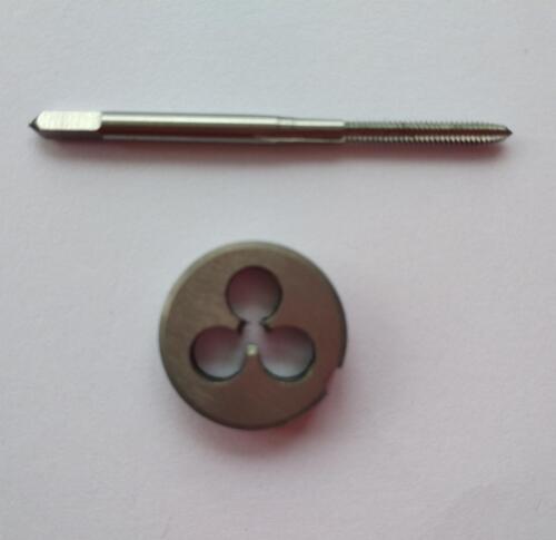 1pcs HSS M5 X 0.5mm Plug Left Tap and 1pcs M5 X 0.5mm Left Die Threading Tool