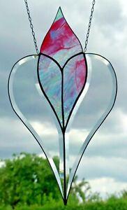 Bleiverglasung-Facetten-Fensterbild-034-Herz-Unendlichkeit-Romantik-034-in-Tiffany
