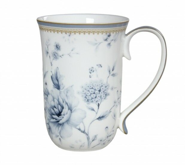New Fine Bone China Australia Bird Blue Wren Coffee Tea Mug w Handle Cup 405cc