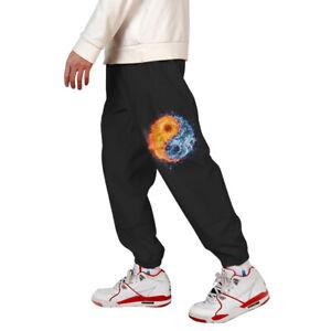 Mens-3D-Print-Color-Block-Cargo-Pants-Joggers-Pants-Trousers-006-M