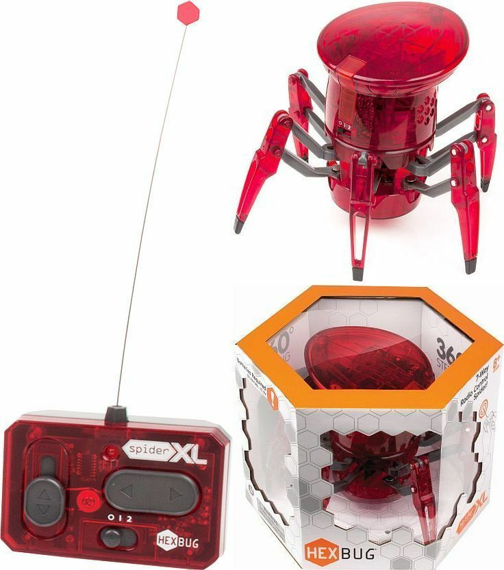 Hexbug Robot XL Spider Rc 2 Channel Remote Control Led Head Giant Spider Hex Bug