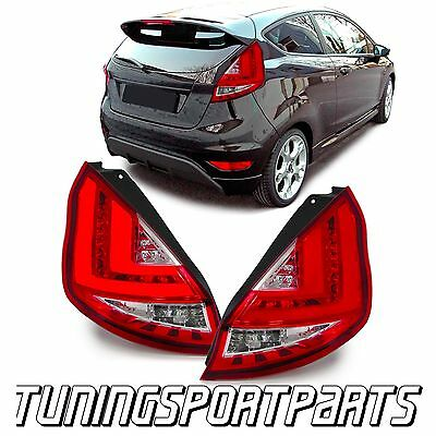 REAR TAIL LED LIGHT BAR RED FOR FORD FIESTA MK7 FROM 2013 ONWARDS FACELIFT