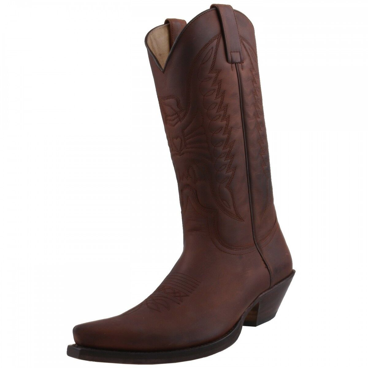 New Sendra Boots Men's shoes 2073 Cowboy Boots Boots Leather shoes Brown
