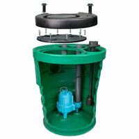 Little Giant 10jp2v2d - Pit Plus® Jr. 1/2 Hp Premium Simplex Sewage Syste...