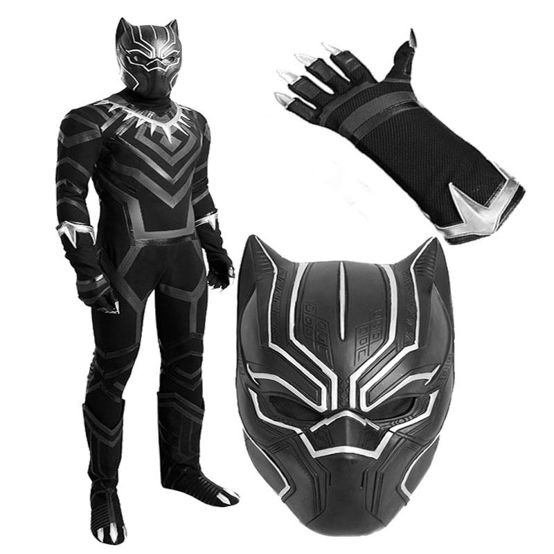 2b20db94f306 Customized Black Panther Captain America 3 Civil War Cosplay Costume  Halloween | eBay