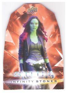 Details about 2018 Upper Deck Avengers Infinity War Stones Soul Die Cut  #OS2 Gamora 1:60