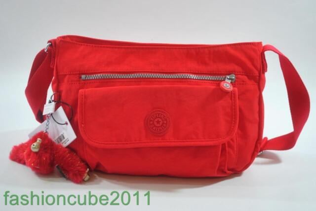New With Tag Kipling Syro Shoulder Crossbody Bag Candy Red Cny