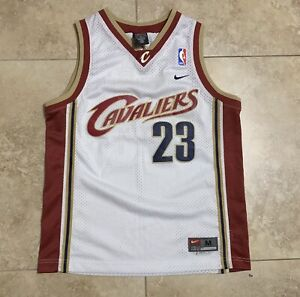 online store ea1a0 cf80e Details about YOUTH Cleveland Cavaliers #23 Lebron James Jersey By Nike In  White Size M+2