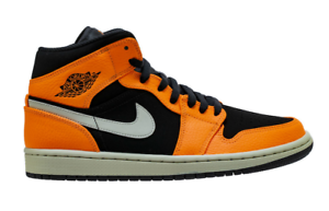 the best attitude 10fc8 52c89 Image is loading Air-Jordan-1-Mid-Retro-Black-Cone-Light-
