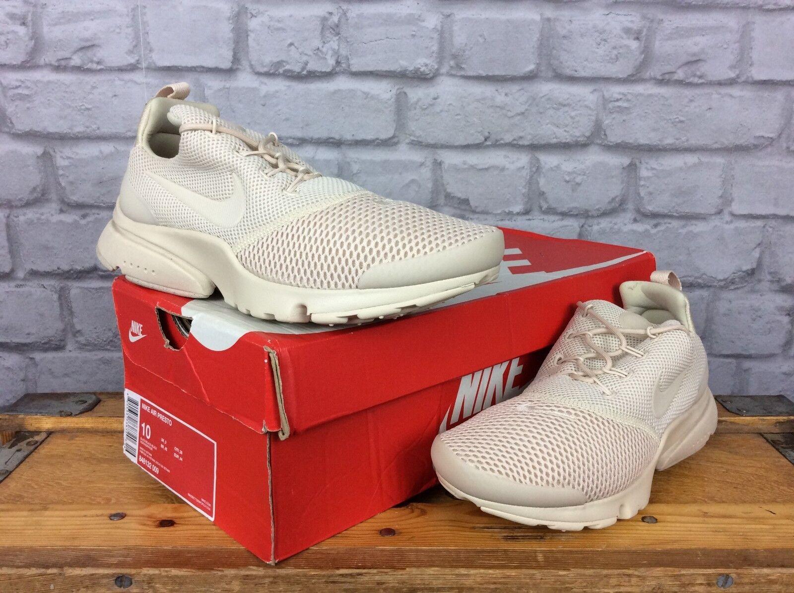 Nike Donna EU 38 presto FLY se Deserto Sabbia Marrone Scarpe da ginnastica mesh BIANCO