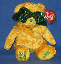 TY MASQUE the BEAR BEANIE BABY - MINT  with MINT TAG