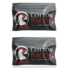 2 Packs Cotton Bacon V2 by Wick n Vape Organic Tasteless Wicking Material X 2 NW
