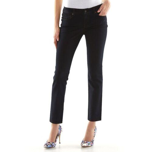 Sonoma Women/'s Size 10S Dark Rinse Slim Straight Comfort Stretch Jeans NEW $36