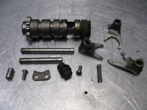 Kawasaki-KX125-KX-125-1974-74-Transmission-Shift-Drum-Forks-Trans-Shafts-OEM
