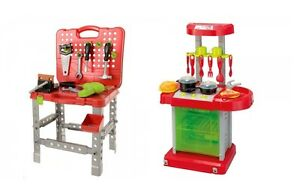 Kids electronic pack away kitchen work bench fun toy for Electronic kitchen set