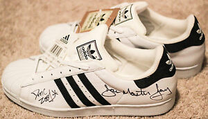 Details about RUN DMC Signed Adidas Superstar II shoes Jam Master Jay, Rev Run, DMC SUPER RARE